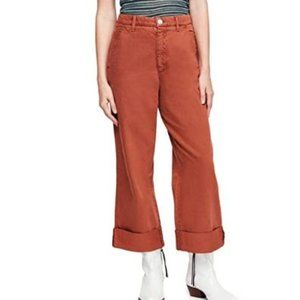 Free People Womens On My Mind Cropped Cuffed Pants